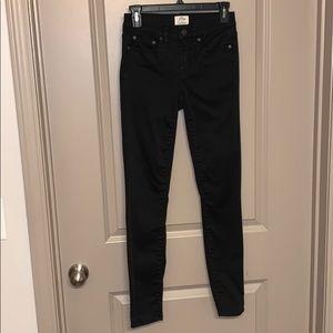 J Crew Toothpick Skinny Jeans in Black size 25T